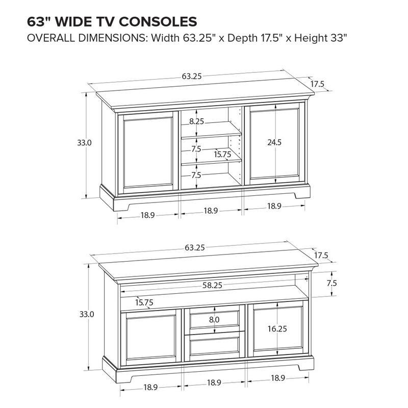 Howard Miller Custom TV Console TS63F