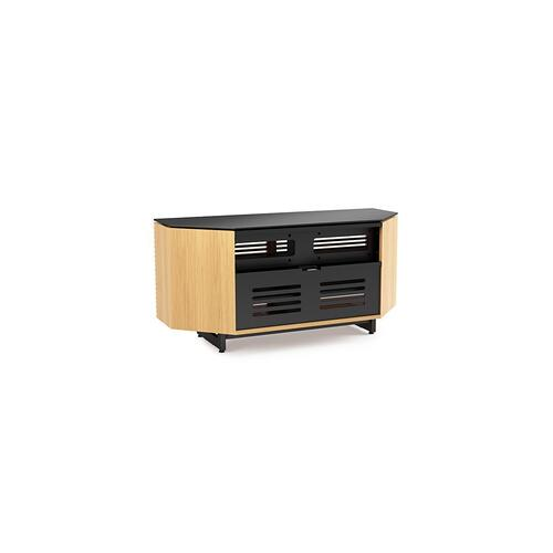 Corner Media Cabinet 8175 in White Oak