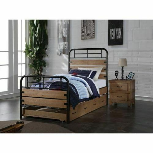 ACME Adams Twin Bed - 30610T - Antique Oak