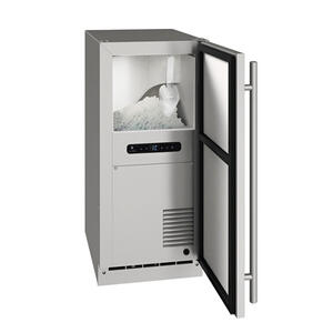 """U-LineOnb115 / Onp115 15"""" Nugget Ice Machine With Stainless Solid Finish, No (115 V/60 Hz Volts /60 Hz Hz)"""