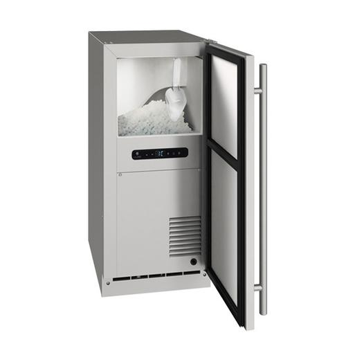 """U-Line - Onb115 / Onp115 15"""" Nugget Ice Machine With Stainless Solid Finish, Yes (115 V/60 Hz Volts /60 Hz Hz)"""