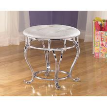 Upholstered Stool (1/CN) Zarollina - Silver Collection Ashley at Aztec Distribution Center Houston Texas