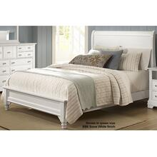 Twin Sleigh Bed with Low Profile Footboard