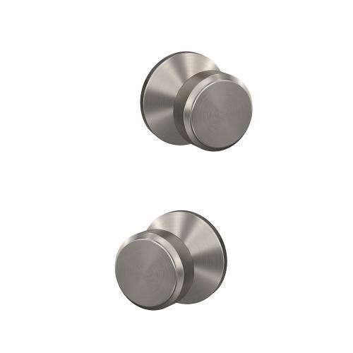 Custom Bowery Knob with Kinsler Trim Hall-Closet and Bed-Bath Lock - Satin Nickel