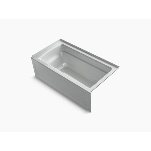 "Ice Grey 60"" X 32"" Alcove Bath With Integral Apron, Integral Flange and Right-hand Drain"