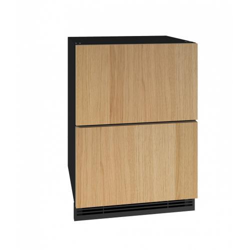 "U-Line - Hdr124 24"" Refrigerator Drawers With Integrated Solid Finish (115v/60 Hz Volts /60 Hz Hz)"