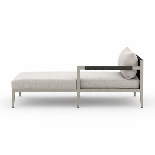 Raf Chaise Piece Configuration Stone Grey Cover Sherwood Outdoor Sectional Pieces, Weathered Grey