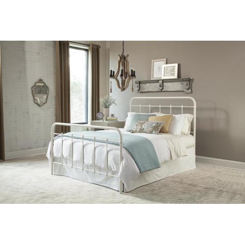 Queen Antique White Farmhouse Bed