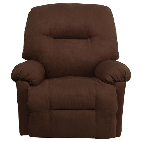Contemporary Calcutta Chocolate Microfiber Chaise Rocker Recliner