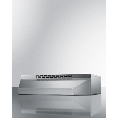 "30"" Under Cabinet Convertible Range Hood, ADA Compliant"