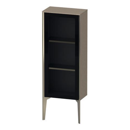 Duravit - Semi-tall Cabinet With Mirror Door Floorstanding, Cashmere Oak