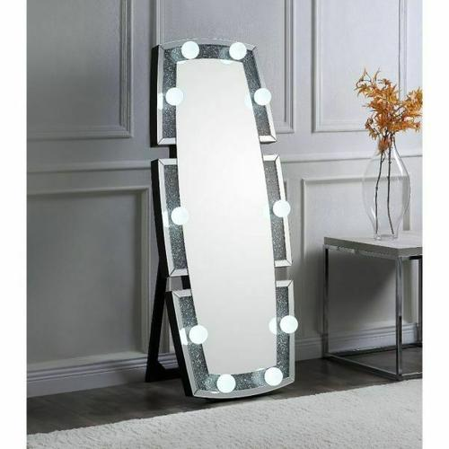 Acme Furniture Inc - Noralie Accent Floor Mirror 97759 by Acme, Includes all Vanity Light Bulbs