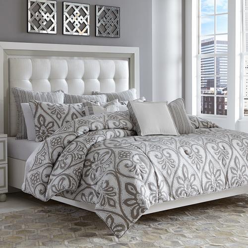 10pc King Comforter Set Gray