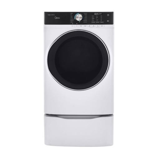 8.0 Cu. Ft. Capacity Front Load Gas Dryer White
