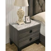 Ethan Nightstand with White Faux Marble Top