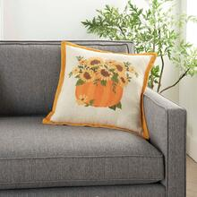 "Holiday Pillows L1808 Natural 18"" X 18"" Throw Pillow"