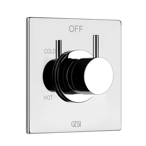 """Gessi - TRIM PARTS ONLY External parts for single exit pressure balance Single Backplate 1/2"""" connections Requires in-wall rough va lve 09272 ADA compliant"""