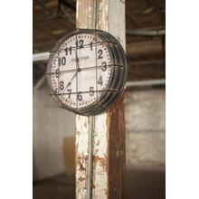 See Details - metal new york subway clock