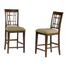 Product Image - Montego Bay Pub Chairs Set of 2 with Cappuccino Cushion in Walnut