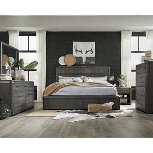 Progressive Furniture - Queen Panel Bed - Distressed Java Finish