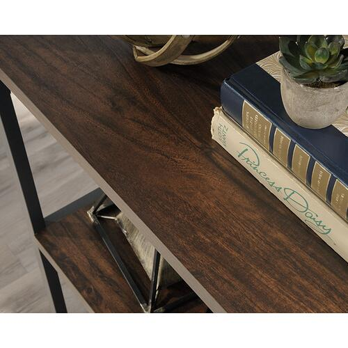 Industrial 4-Shelf Metal & Wood Bookcase