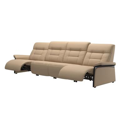 See Details - Stressless® Mary arm wood 4 seater with 2 Power PDDP