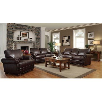 See Details - Colton Traditional Brown Sofa