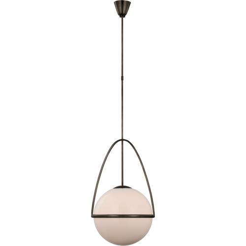 AERIN Lisette LED 18 inch Bronze Globe Pendant Ceiling Light, Large