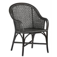 Accent Arm Dining Chair- 1/CTN - Black Finish