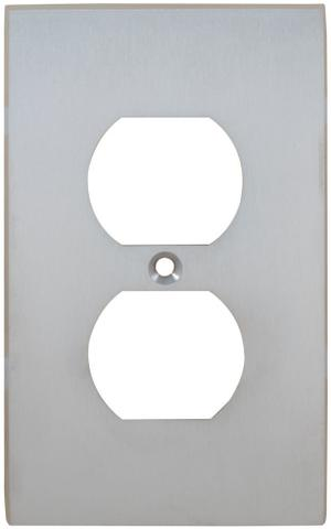 Duplex Receptacle Modern Switchplate in (US26D Satin Chrome Plated) Product Image