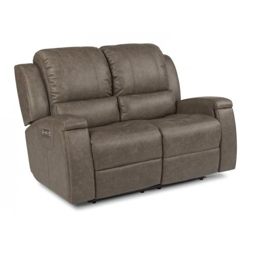 Asher Power Reclining Loveseat with Power Headrests