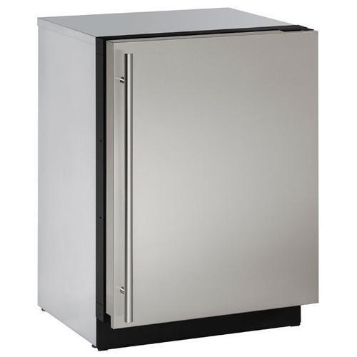 "U-Line - 3024fzr 24"" Freezer With Stainless Solid Finish (115 V/60 Hz Volts /60 Hz Hz)"