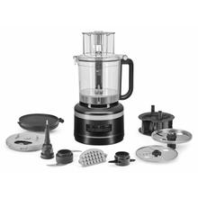 See Details - 13-Cup Food Processor with Dicing Kit - Black Matte