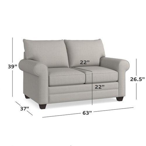 Alexander Roll Arm Loveseat