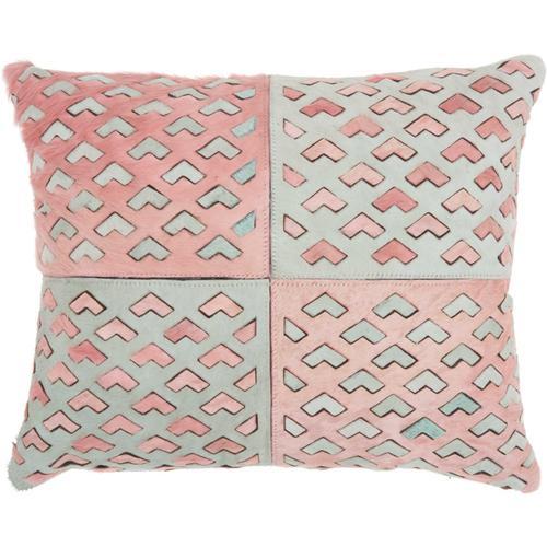 """Natural Leather Hide S4289 Rose 18"""" X 22"""" Lumbar Pillow"""