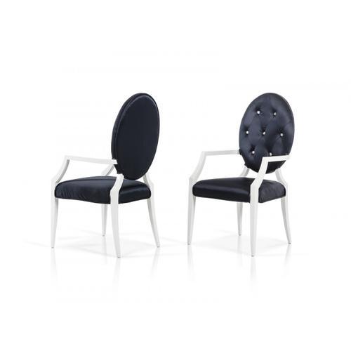 VIG Furniture - Versus Bella Nodern Black Fabric Dining Chair (Set of 2)