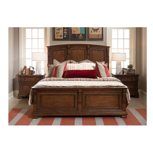 Oxford Place Panel Bed w/ Storage Bench FB, Queen 5/0