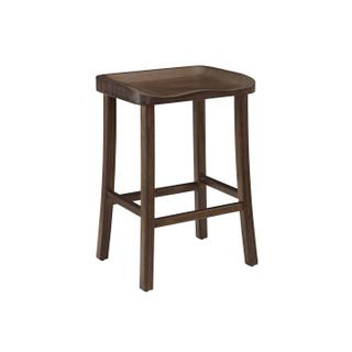 See Details - Tulip Counter Height Stool, Black Walnut, (Set of 2)