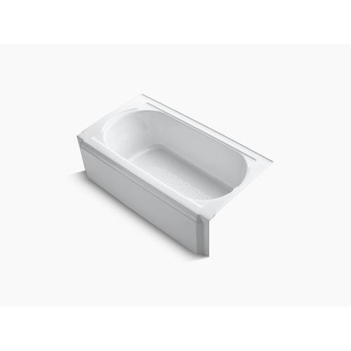 """White 60"""" X 32"""" Alcove Bath With Right-hand Drain"""