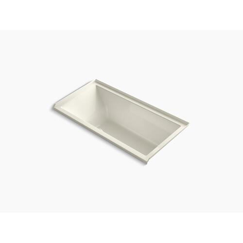 """Biscuit 60"""" X 30"""" Alcove Bath With Bask Heated Surface, Integral Flange and Right-hand Drain"""