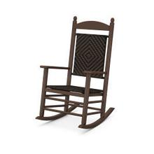 View Product - Jefferson Woven Rocking Chair in Mahogany Frame / Cahaba