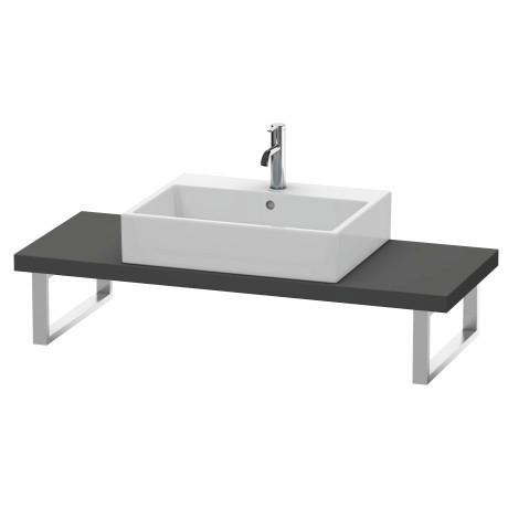 Duravit - Console For Above-counter Basin And Vanity Basin Compact, Graphite Matte (decor)