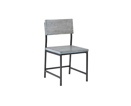 Dining Chair- Gray - Gray Finish