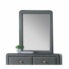 ACME Valda Mirror - 24524 - Light Gray Fabric