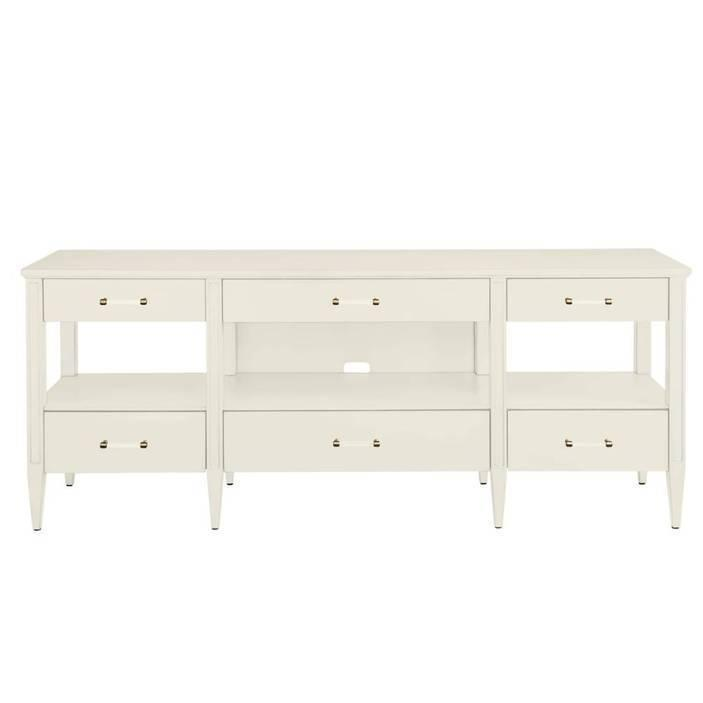 Latitude Media Console - Saltbox White