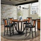 Boyer Transitional Amber and Black Counter-height Table Product Image