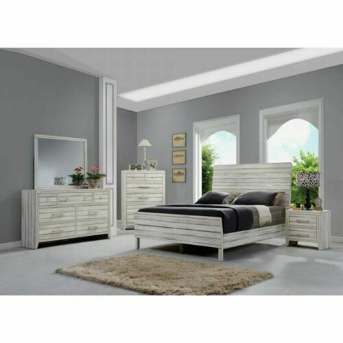 ACME Shayla Eastern King Bed - 23967EK - Antique White