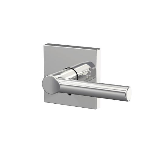 Custom Broadway Lever with Collins Trim Hall-Closet and Bed-Bath Lock - Bright Chrome
