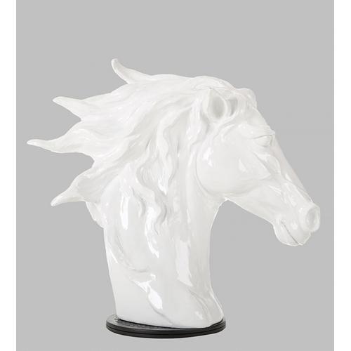 Gallery - Modrest SZ0002 - Modern White Horse Head Sculpture
