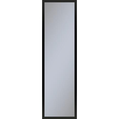 """Profiles 11-1/4"""" X 39-3/8"""" X 6"""" Framed Cabinet In Matte Black With Electrical Outlet, Usb Charging Ports, Magnetic Storage Strip and Right Hinge"""
